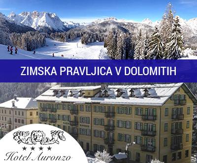 Smučanje v Dolomitih